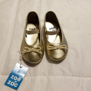 Zoe & Zac Toddler Girl Ballerina Style Shoes Sz 6